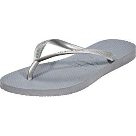 havaianas Slim Flips Damen steel grey